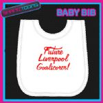 LIVERPOOL FOOTBALL WHITE BABY BIB EMBROIDERED